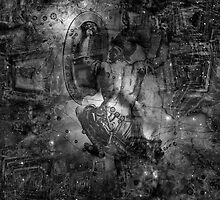 When The Stars Are Right - M78 in Orion (black & white version) by Richard Maier