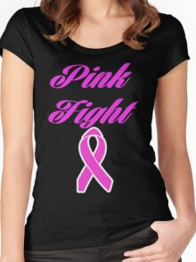 pink fight breast cancer  Women's Fitted Scoop T-Shirt