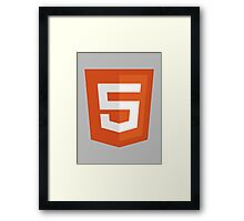 HTML 5 – Silicon Valley Framed Print