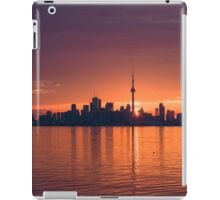 Bright and Orange Toronto Sunrise iPad Case/Skin