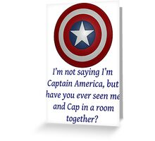 I Could Be Captain America - BT Greeting Card