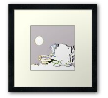 Absract Landscape With A Beige Sky Framed Print