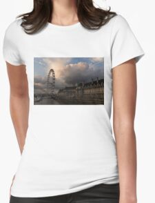Sky Drama Around the London Eye Womens Fitted T-Shirt