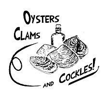 Oysters, clams, and cockles Photographic Print