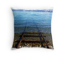 Old Tahoe Launch Throw Pillow