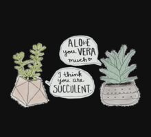 These Puns are Succulent ;) Kids Tee