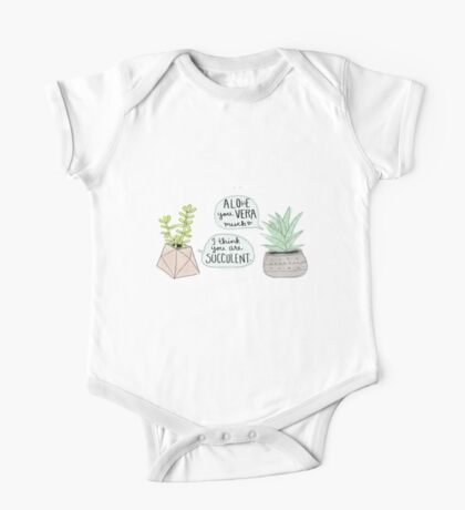 These Puns are Succulent ;) One Piece - Short Sleeve