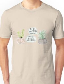 These Puns are Succulent ;) Unisex T-Shirt