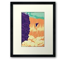 At the  waterfall Framed Print