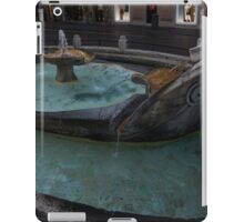 Rome's Fabulous Fountains - Fontana della Barcaccia, Spanish Steps  iPad Case/Skin