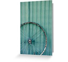 Green Rim Tin Greeting Card