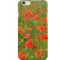 red poppies in the field iPhone Case/Skin