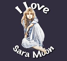 """I Love Sara Moon"" Womens Fitted T-Shirt"
