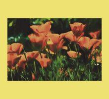 Brilliant Orange California Poppies - Impressions of Desert Spring Kids Tee