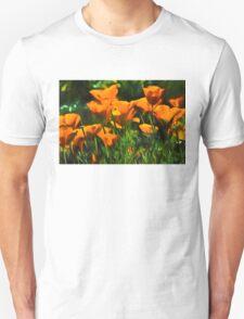 Brilliant Orange California Poppies - Impressions of Desert Spring Unisex T-Shirt