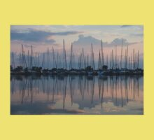 Pastel Sailboats Reflections at Dusk Kids Clothes