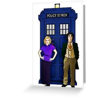 The 8th Doctor and Charley Greeting Card
