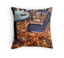 Autumn leaves outside a cafe in Stirling, Adelaide Hills Throw Pillow