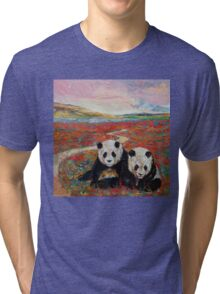 Panda Paradise Tri-blend T-Shirt