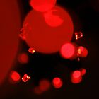 Stylish Modern Wall Art : Sparkle Red Diamonds Glitter in Black by Toby Davis