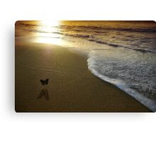 Butterfly on the sea Canvas Print