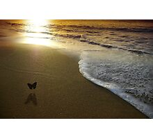 Butterfly on the sea Photographic Print