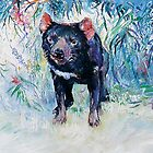 Tasmanian Devil by Pieter  Zaadstra