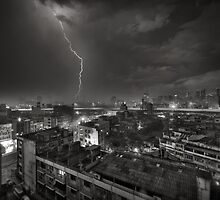 Storm over Bangkok by Laurent Hunziker