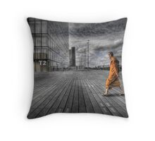 Monk in Paris Throw Pillow
