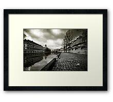 Paris, Quais de la Seine Framed Print