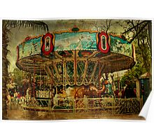 The Old Animal Carousel Poster