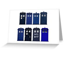 Doctor Who - The TARDIS Greeting Card
