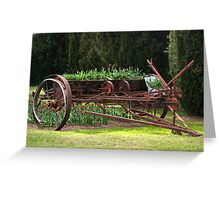 A wagon full of tulips Greeting Card