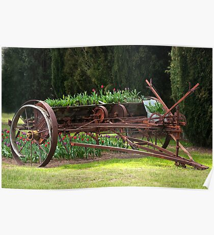 A wagon full of tulips Poster