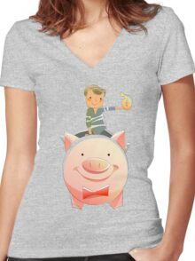 Secretary of the Treasury. Women's Fitted V-Neck T-Shirt