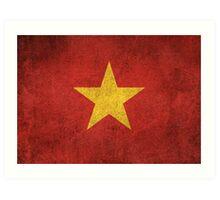 Old and Worn Distressed Vintage Flag of Vietnam Art Print