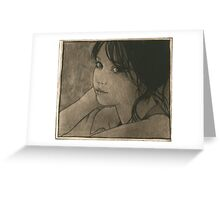 Stacey's glance Greeting Card