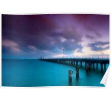 Dusk at Mordialloc Pier Poster
