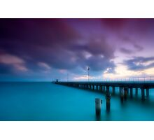 Dusk at Mordialloc Pier Photographic Print