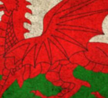 Old and Worn Distressed Vintage Flag of Wales Sticker