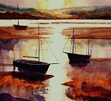 Estuary Dusk by John Moore