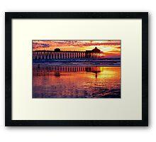 Pacific Sunset California Framed Print