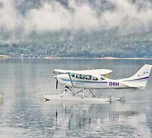 Reflected Seaplane  by Julie Teague