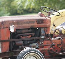 Vintage Tractor in colour by DOGraphics