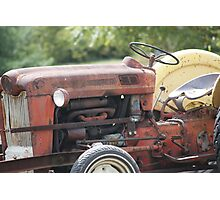 Vintage Tractor in colour Photographic Print