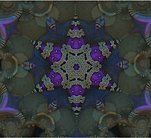 Purple Star Fractal by Manafold