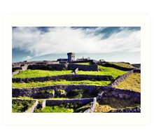 The fort on top of the hill Art Print