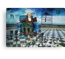 The Day I Beat Duchamp at Chess Canvas Print