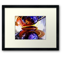 Colliding Forces Abstract Framed Print