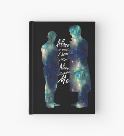 """Johnlock """"ALONE IS WHAT I HAVE"""" white letters Hardcover Journal"""